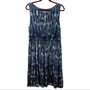 J. Jill Blue Print Sleeveless Casual Dress